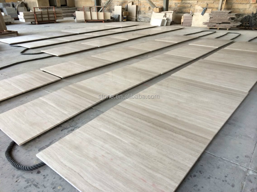 Silver Grey Travertine White Wooden Vein Marble Slabs For Japan Worksite