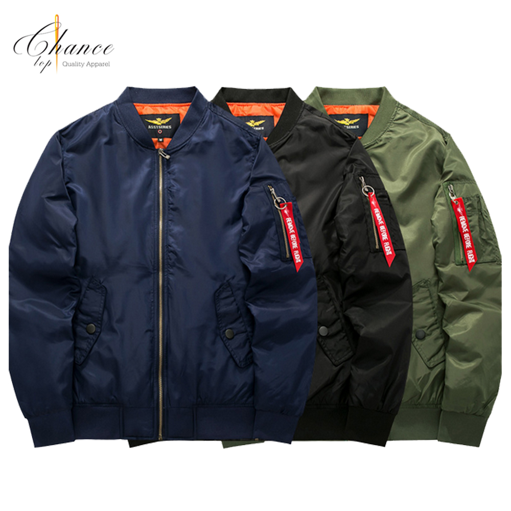 J-1708K10 nylon jackets wholesale blank plus size LOGO custom winter <strong>fashion</strong> jacket bomber jacket men
