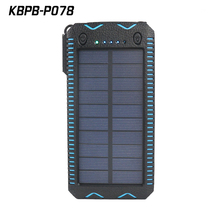 High capacity polymer battery 30000 mah solar power bank for camping