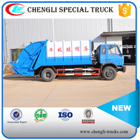 Dongfeng 4*2 170hp 9000L 10000L Compression Garbage Truck