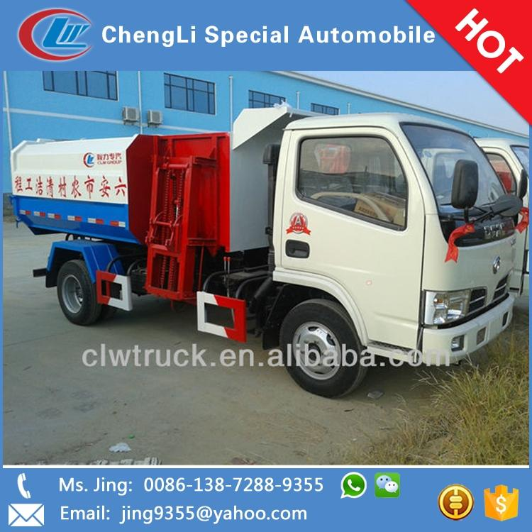 Factory Price Dongfeng hook lift containers for sale,5000L hook lift garbage truck