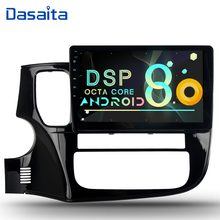Dasaita Android 8.1 car radio for mitsubishi outlander 2015 2016 2017 DSP dvd player 10.2inch GPS navigation multimedia system