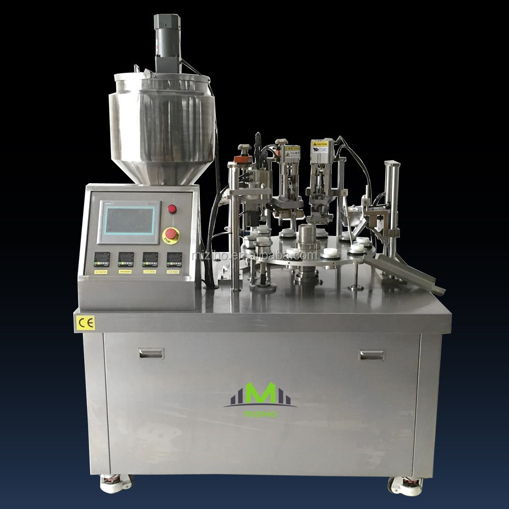 MZH-PFS Semi-automatic toothpaste / ointment tube filling & sealing machine with factory price