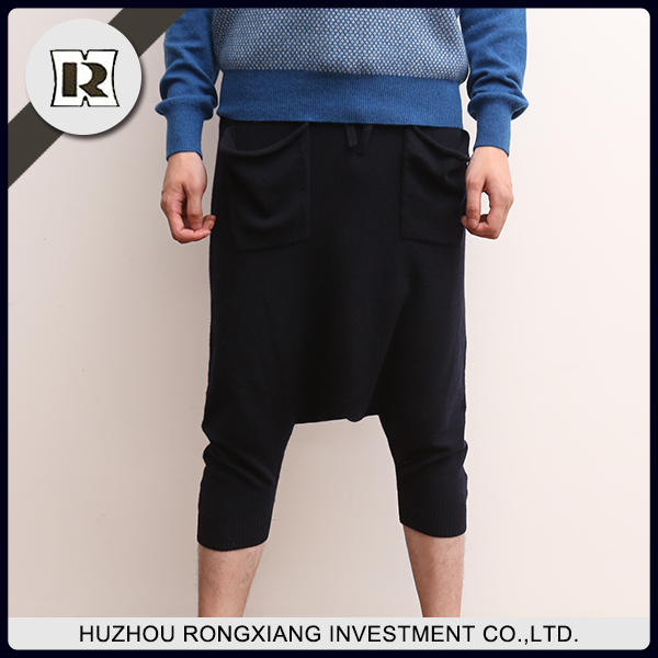 men Knitted cashmere casual loose pants