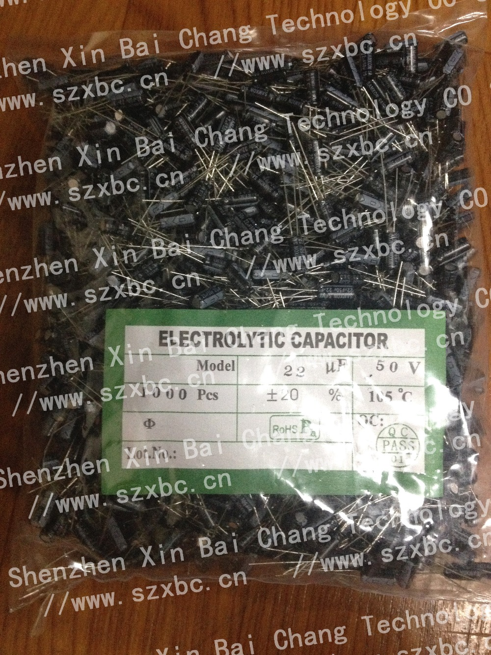 High quality 50V 22uF aluminium electrolytic capacitor with RoHs