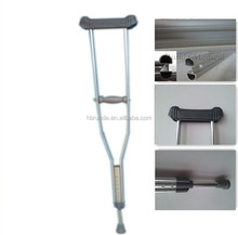 walking crutch with anti skidding rubber feet pad