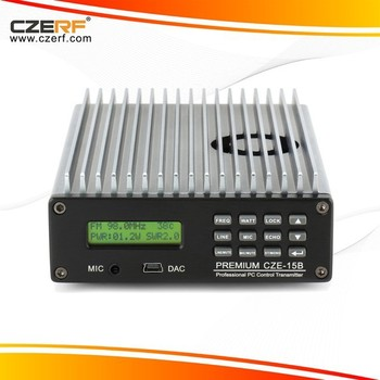 CZE-15B PC control 15W fm transmitter for radio station low power High Quality Radio audio amplifier