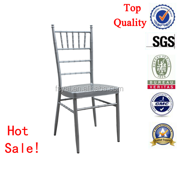 stackable aluminum fancy wedding dining sillas wholesale tiffany chiavari chair silver