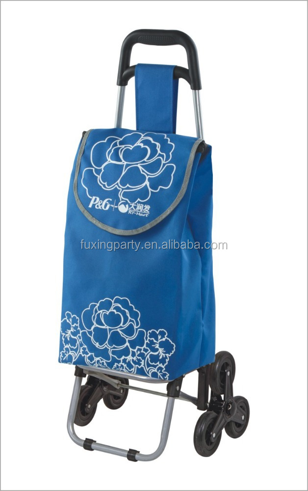 Fuxing remote control golf trolley vegetable shopping trolley bag, foldable shopping cart, lady supermarket wagon cart