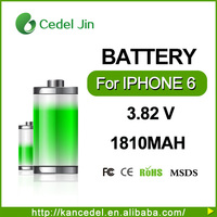 2015 New Original oem 3.8 volt li-ion battery Battery Replacement 1810mAh for iPhone 6 4.7""