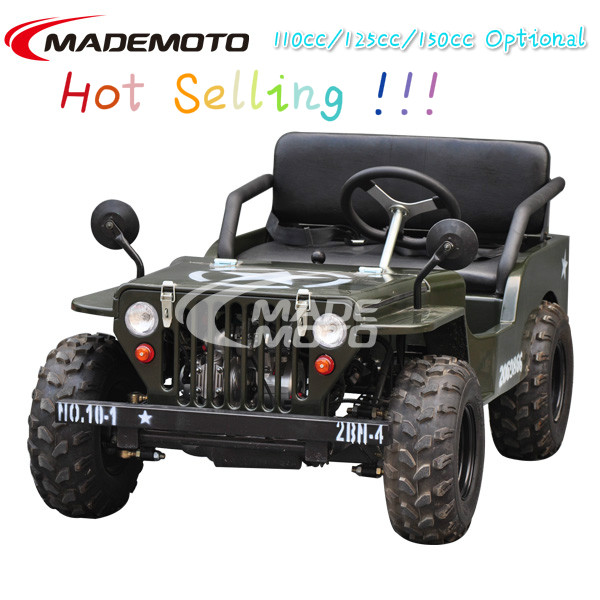 110cc kids mini moke jeep with Army Green Color