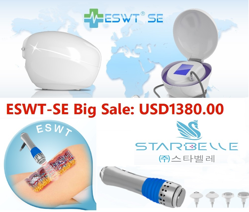 Powerful Mechanical Energy ESWT Shock Wave Therapy China Factory Beauty Machine Portable