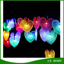 Warm White/ White/ Blue/ Colorful 20/30/50 LED Pearl Heart Solar LED Garland Christmas String Light