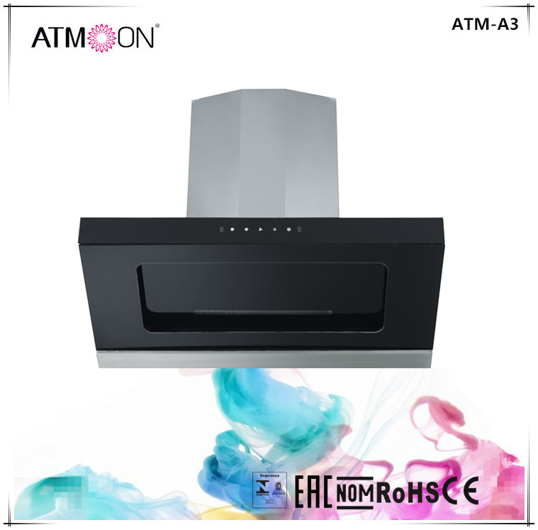 Luxury high quality kitchen exhaust chinese island mounted range hood / kitchen extractor hood ATM-A3