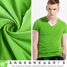 2016 fabric supplier Wholesale Free sample 40S 100 cotton knit fabric for T shirt
