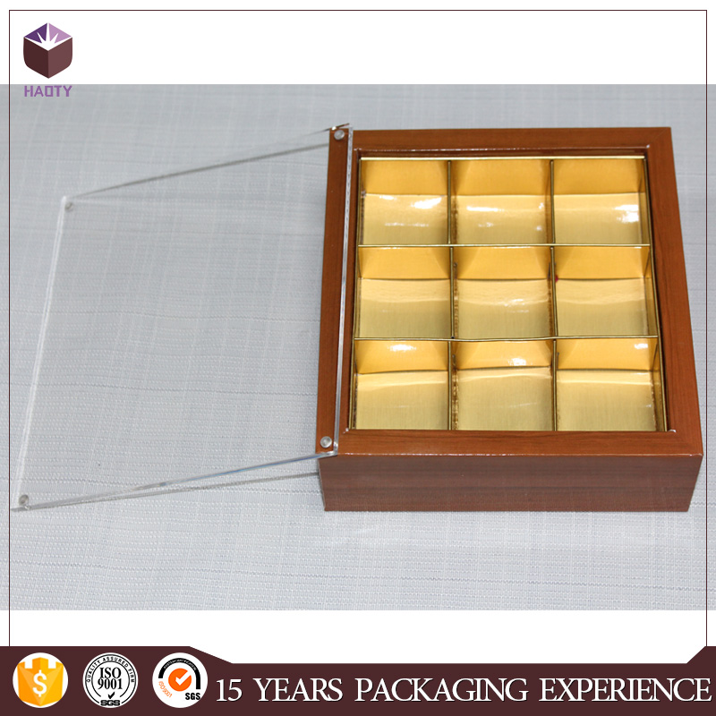 Custom acrylic lid chocolate boxes luxury