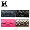 SK-6109 2016 new arrival women custom design leather wallets with high hardware turn locks