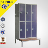 Gym Electronic Metal Bench Locker With Bench