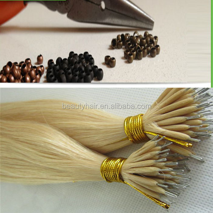 Brown silicone Nano ring for Hair Extensions micro rings 3.0mm nano beads Smallest silicone Nano rings links