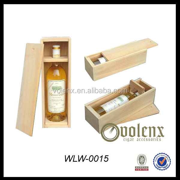 Single bottle wooden wine box Wooden wine or champagne box Wine bottle packaging box