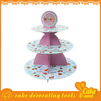 Wholesale 3 tier cardboard wedding paper cupcake stand