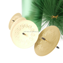 Christmas tree Candle holder 7cm Patterened Round shape with pin