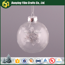 Clear hanging glass christmas ornament ball for sale