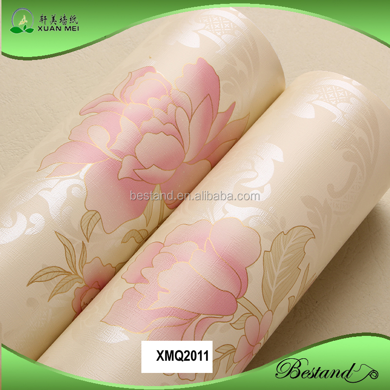 3D flower design wallpaper pink peony flower wallpaper bedroom vinyl wallpaper