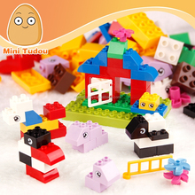 Children DIY Small Zoo large plastic building blocks 66pcs 3D wange building blocks