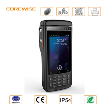 4G LTE handheld android touch screen pos terminals for supermarket with barcode scanner