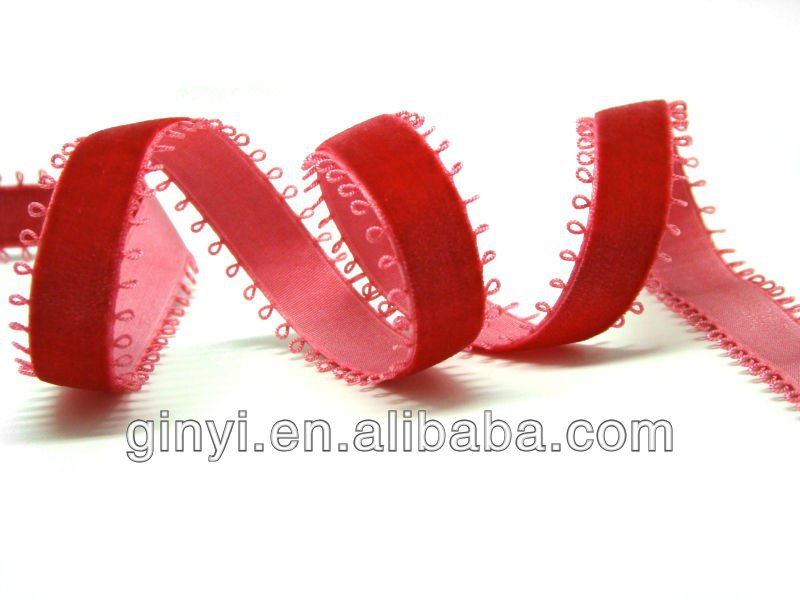 Pretty red ribbon,elastic webbing
