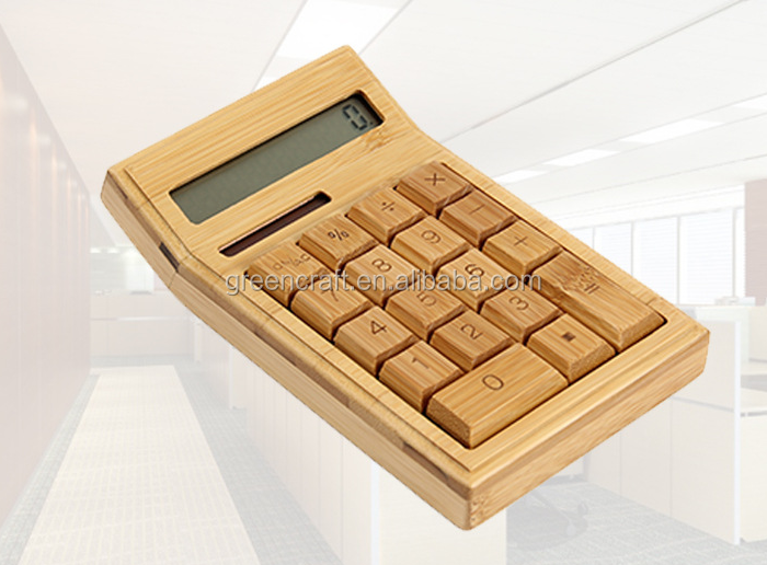 High Quality Wooden Fashion Calculator Solar Cell