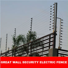 wall top security electric fence energizer perimeter electric security fence integrated with CCTV,GSM alarm
