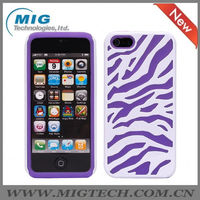 Fahion zebra pattern 3 in 1 case for iphone 5, for iphone case. 2013 for iphone 5S