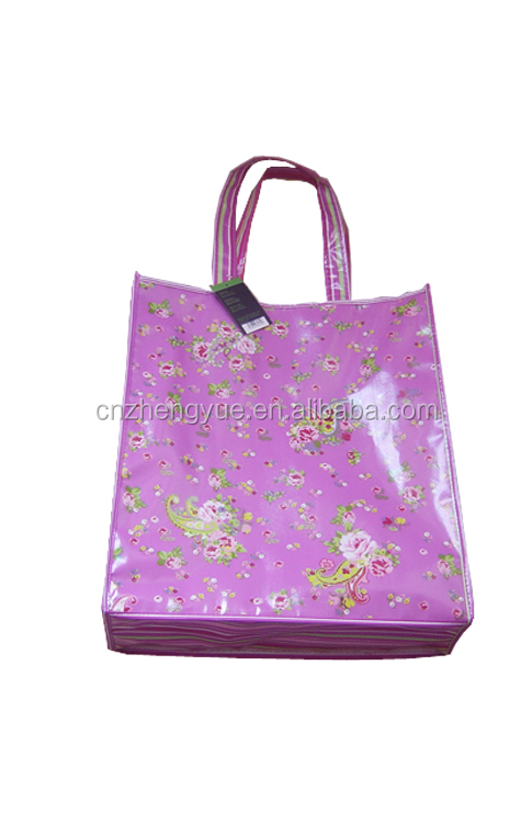 high quality customized non woven laminated reusable bag with drawstring pouch