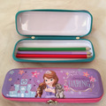 Stationery Promotional Customize Pencil Tin Case Zipper Metal Pencil Case