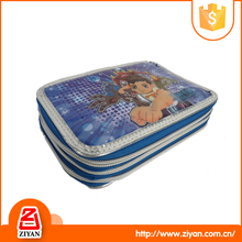 High quality durable cool zippered pencil case for teenagers