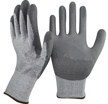 NMSAFETY HPPE Level 5 Anti Cut PU Dipped Working Gloves