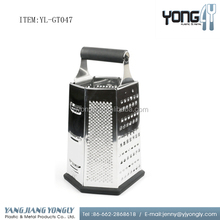 6-sided multi-functional stainless steel cheese vegetable box grater