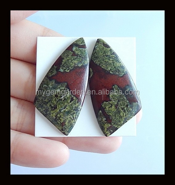 Dragon Blood Stone Cabochon Pairs,39x19x4mm,8.4g