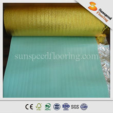 2mm 3mm EPE foam underlayment(with gold foil backing)