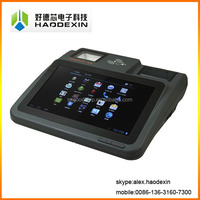 "Free SDK 10.1"" Android pos system 58MM in-built receipt thermal printer barcode scanner 3G wifi IC MSR RFID pos machine GC039B"