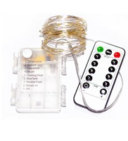 3AA Battery Operated Remote Controlled Waterproof LED Fairy Light