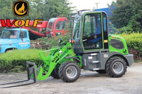 0.8ton chinese wheel loader articulated front loader
