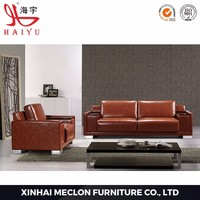 S887 Furniture loby PU or leather luxury nice modern sofa for sale