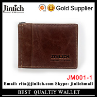 Factory price man wallet genuine leather mans custom money clip