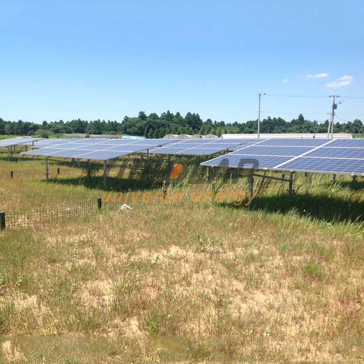 Custom ground pile solar mount, industrial 1mw solar system