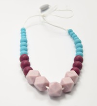 China Supplier BPA Free Food Grade Silicone Beads Jewelry For baby Teething Necklace Toy