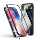 Magnet tempered glass metal cell phone case for iPhone 6 7 8 Plus X