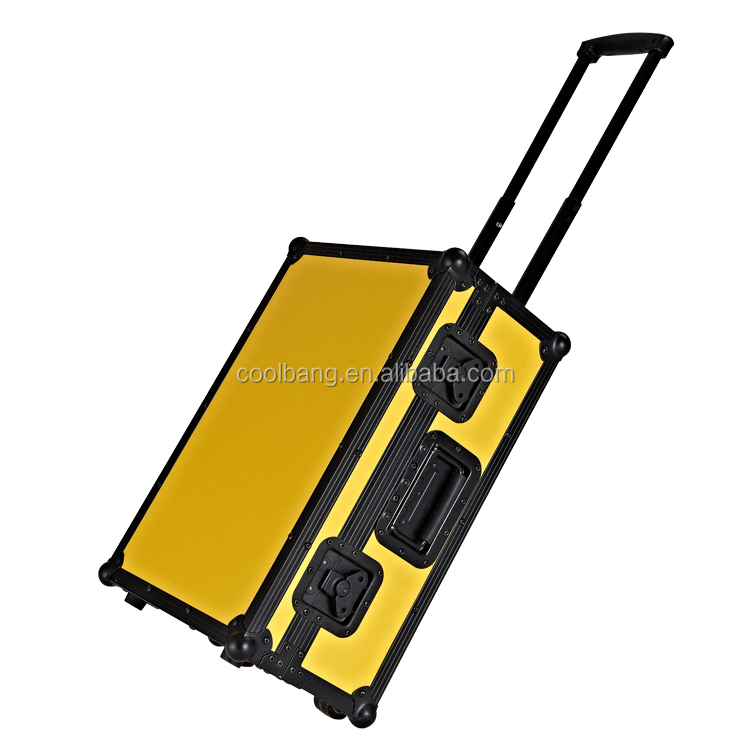 High-quality & Utility-type aluminum tool box trolley luggage flight case